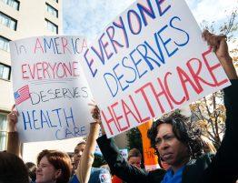 Protesto pela saúde nos EUA